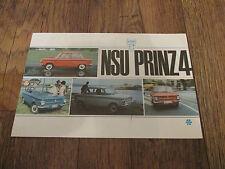 1966 NSU Prinz 4 brochure