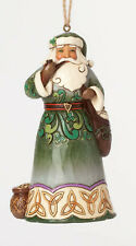 Enesco Jim Shore Irish Santa with Pipe Hanging Ornament Nib 4041111
