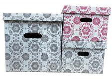 Aufbewahrungsbox SNOW Karton Pappe mit Deckel Kiste Schachtel ca. 15 L