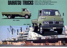 Three 1973 DAIHATSU DELTA TRUCK 2 Page Brochures SV18 DV26 & 2 Ton Tipper