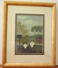 VTG Limited Edition Print Harold & Abby In The Meadow Cats Farm Print 50 of 100