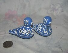 "Pablo Zabal Chile Art Pottery lot of 2 Mourning Doves 2"" - 3"""