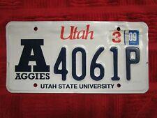 """Utah University of Utah """"Aggies"""" License Plate"""