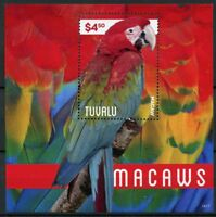 Tuvalu 2014 MNH Macaws 1v S/S Birds Parrots Stamps