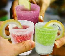 Ice Shot Plastic Frozen Party Drink Glass Mould Tray Freeze Cube Maker Set #4264