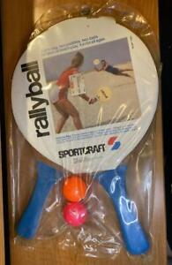 Vintage Sealed Sportcraft RallyBall Set # 11030 Wood Paddles Pre 1999