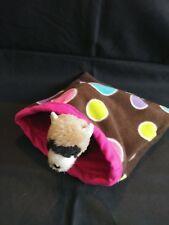 """Small Animal Polar Fleece Sleep Sack 10"""" x 11"""" Colorful Dots"""