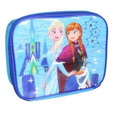 DISNEY FROZEN PRINCESS ANNA ELSA INSULATED THERMAL LUNCH BAG SCHOOL BLUE GIRLS