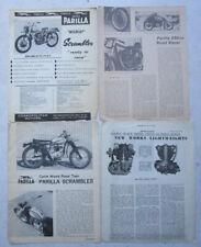 Vintage Parilla Motorcycle Brochures 250 Road Racer Scrambler Race Shop Secrets