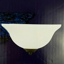 1-Light Wall Sconce Fixture Frosted Glass Shade Oil Rubbed Bronze MPN 1002514914