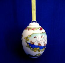 China Egg Ornament - Spring (2000) 'Ole Winther' Egg-shaped China Ornament