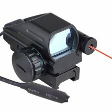 Holographic Laser Sight Scope Reflex 4 Red Green Dot Reticle Picatinny Rail