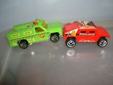 Hot Wheels-FIRE TRUCK RAPID RESPONDER & HUMMER...lot set of 2