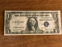 1935D series $1  currency  Silver Certificate  V E  Block  1935 D