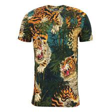 DSQUARED2 - Jungle Tiger Print T-Shirt in Dark Green - Size XL - RRP £140