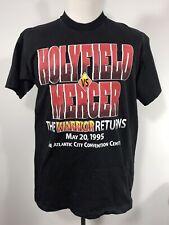 Adult Xl Evander Holyfield Vs Ray Mercer 1995 T Shirt Black The Warrior