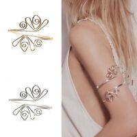 Women Open Upper Bracelet Bangle Arm Cuff Armlet Armband Egypt Curve Jewelry