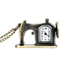 Pocket Watch Necklace Chain Gift ^ Vintage Alloy Sewing Machine Design Pendant