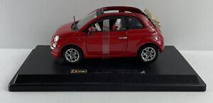 BBURAGO FIAT CABRIOLET RED BRAND 1:24 BURAGO Model