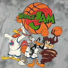 Space Jam Looney Tunes Mens XLRGE Basketball Taz Bugs Bunny Tie Dye T-Shirt NEW