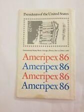 Ameripex 86 Presidents Washington to Johnson in Envelope Excellent condition