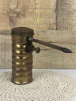 Vintage Brass Eagle Oil Can Finger Pump Oiler