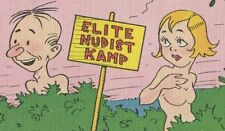 Elite Nudist Kamp Topless Woman That's The Naked Truth Postcard