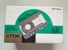 TDK AR 60 Blank Audio Cassette Tape IEC I/Type I Normal Position, Japan, 10 pack