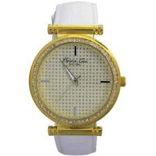 Kenneth Cole KCW2006 Womens Crystal Dial and Crystal Bezel Leather Strap Watch