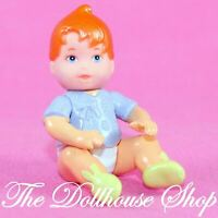 Fisher Price New Additions Loving Family Dollhouse Orange Hair Baby Boy Girl Dol
