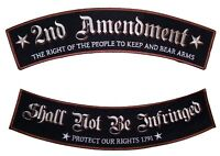 Patriotic The 2nd Amendment Rights Rocker Set Biker Patch FREE SHIP