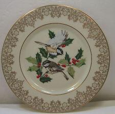 Lenox ~ Garden Bird Plate Collection ~ Chickadees 1988 ~ 8&1/4 inch diameter