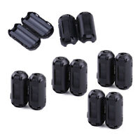 10Pcs Clip On Clamp RFI EMI Noise Filters Ferrite Core Fit for 5mm Cable HD