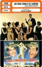 FICHE CINEMA : UN VRAI CINGLE DE CINEMA - Martin,Lewis 1956 Hollywood Or Bust