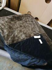 Helene Berman Dark Mink Faux Fur Throw Blanket RRP £350 140cmX190cm John Lewis