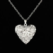Aromatherapy Essential Oil Diffuser Necklace Pendant Heart Photo Locket for Lady