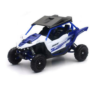 New Ray Toys 1:18 Scale Die Cast Toy Replica Yamaha YXZ 1000 Blue/White 57813A
