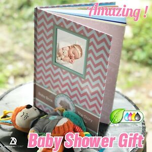 Elephant baby Memory Book pink Newborn Journal Baby First pink Book Baby Shower