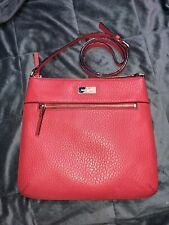 New Kate Spade Prospect Place Rima Red Pebble Leather Cross Body Bag