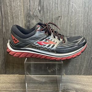 Brooks Glycerin 14 Men's Size 10 Black Gray Red Running Jogging Shoes Sneakers