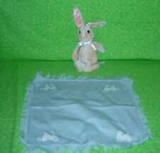 The Hamilton Collection BUNNY AND BLANKET SET Plush and Blankie 1990 Vintage