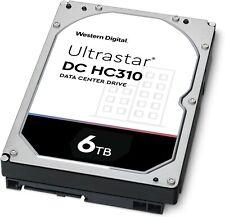 """WD Ultrastar DC 6TB HC310 7200 RPM 256 MB 3.5"""" Hard Disk Drive #5448"""