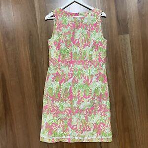 Lilly Pulitzer Sleeveless shift sheath dress colourful jungle pattern US 10
