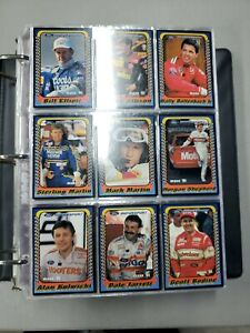 Lot of (4) 1991 Nascar Racing Card Complete Sets in Binder Maxx & Pro Set