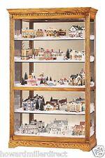 Howard Miller 680-237 Parkview - Large Golden Oak Curio Collector Cabinet