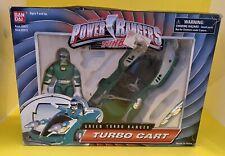 1996 In Box Vintage Bandai Power Rangers Turbo Green Ranger Turbo Cart (Nice)
