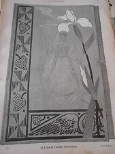 1893 Original Vintage Print Le Livre de Première Communion par Roedel