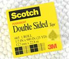 20 rolls 665 3M Scotch permanent double sided tape 1/2 inX900 in X 25yd