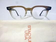 Vintage American Optical Hybrid Stadium Brown 44/20 Men's Plastic Eyeglass Frame
