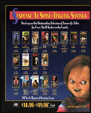 CHUCKY Classic Horror Promo__Original 1992 horror video print AD __Child's Play